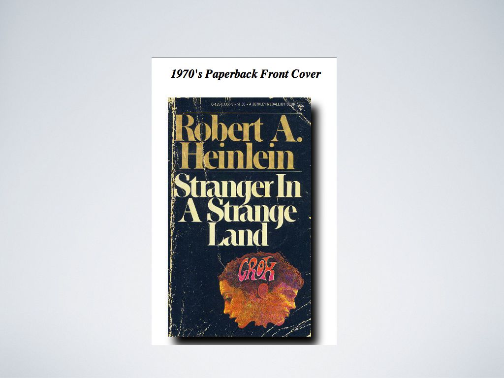 "This looks just like the cover of our copy of ""Stranger"""